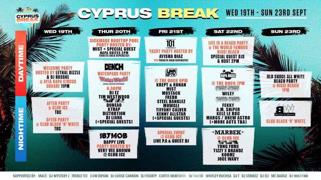 Cyprus Break Summer Closing Festival 2018 Program