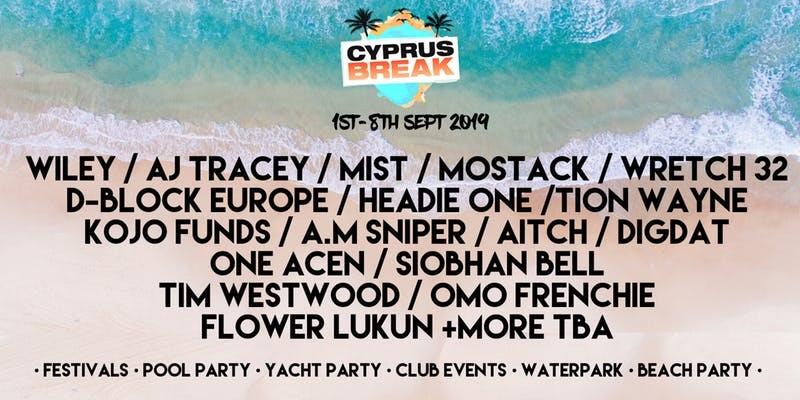 Cyprus Break Summer Closing Festival Artists 2019